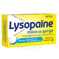 LysopaÏne Comprimés à Sucer Maux De Gorge Sans Sucre 2t/18 à IS-SUR-TILLE