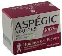 ASPEGIC ADULTES 1000 mg, poudre pour solution buvable en sachet-dose 15 à IS-SUR-TILLE