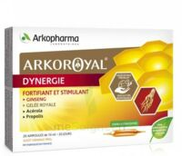 Arkoroyal Dynergie Ginseng Gelée royale Propolis Solution buvable 20 Ampoules/10ml à IS-SUR-TILLE