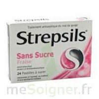 STREPSILS FRAISE SANS SUCRE, pastille édulcorée à l'isomalt, au maltitol et à la saccharine sodique à IS-SUR-TILLE