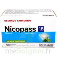 Nicopass 1,5 Mg Pastille Sans Sucre Menthe Fraîcheur Plq/96 à IS-SUR-TILLE