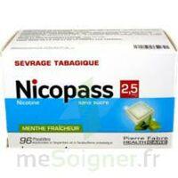 Nicopass 2,5 Mg Pastille Menthe Fraîcheur Sans Sucre Plq/96 à IS-SUR-TILLE