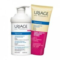 Xémose Crème relipidante anti-irritations Fl pompe/400ml + Huile lavante 200ml à IS-SUR-TILLE