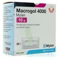 MACROGOL 4000 MYLAN 10 g, poudre pour solution buvable en sachet-dose à IS-SUR-TILLE