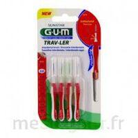 GUM TRAV - LER, 0,8 mm, manche rouge , blister 4 à IS-SUR-TILLE