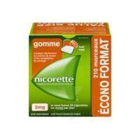 Nicorette 2 mg Gomme à mâcher médicamenteuse sans sucre fruits Plq/210 à IS-SUR-TILLE