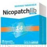 NICOPATCHLIB 14 mg/24 h Dispositifs transdermiques B/28 à IS-SUR-TILLE