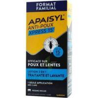 Apaisyl Anti-poux Xpress 15' Lotion Antipoux Et Lente 100ml+peigne à IS-SUR-TILLE